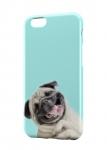 Чехол Счастливый Мопс для iPhone, Samsung, Lenovo, Meizu
