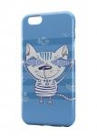 Чехол Кот с рыбой для iPhone, Samsung, Lenovo, Meizu