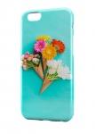 Чехол цветы на ярко-синем фоне для всех моделей телефонов
