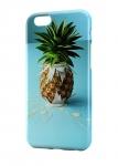 Чехол ананас с капельками молока на синем фоне для всех моделей телефонов