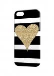 Чехол Сердце с блестками для iPhone и др. (любые модели)