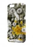 Чехол Одуванчики на черно-белом фоне всех моделей телефонов