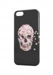 Чехол Цветочный череп для iPhone  и др. (любые модели)