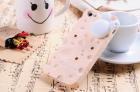 Силиконовый чехол для iPhone 5/5s Cheese (бледно розовый)