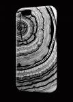 Чехол Черно-белый спил дерева