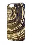 Чехол Психоделичный деревянный спил