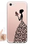 Силиконовый чехол Девушка из бабочек