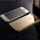 Золотые закаленные стекла для iPhone 4/4S