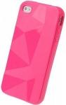 Силиконовый чехол для iPhone 4/4s Diamond Magenta