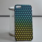 Чехол для iPhone 5/5s Градиент сердца (гол-желт)