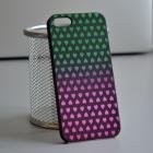 Чехол для iPhone 5/5s Градиент сердца (зел-роз)