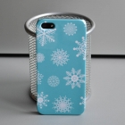 Чехол для iPhone 5/5s Новогодняя серия (снежинки)