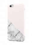 Чехол Белый мрамор с розовым фоном для всех моделей телефонов
