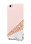 Чехол Мрамор с розовой половинкой для всех моделей телефонов