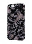 Чехол Черный мрамор с серебром для всех моделей телефонов