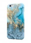 Чехол Синий с золотом мрамор для всех моделей телефонов