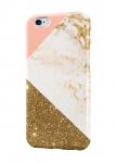 Чехол Бело-золотой мрамор для всех моделей телефонов