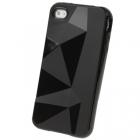 Силиконовый чехол для iPhone 4/4s Diamond Black