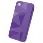 Силиконовый чехол для iPhone 4/4s Diamond Purple