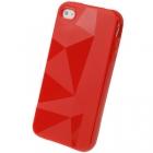 Силиконовый чехол для iPhone 4/4s Diamond Red
