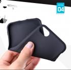 Черный силиконовый чехол для iPhone