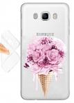 Силиконовый чехол Мороженое с цветами
