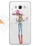 Силиконовый чехол Арт девушка под зонтом