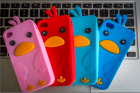 Силиконовый чехол для iPhone 4/4s Цыпленок (много цветов)