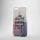 Пластиковый чехол для iPhone 6/6+ I am STRONG