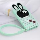 Силиконовый чехол для iPhone 5/5s Rabbit (бирюзовый)