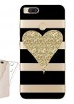 Чехол для Xiaomi Mi A1 Сердце глиттер