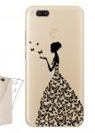 Чехол для Xiaomi Mi A1 Девушка из бабочек