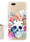 Чехол для Xiaomi Mi A1 Цветочный череп