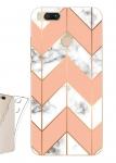 Чехол для Xiaomi Mi A1 Мрамор с розовым