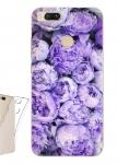 Чехол для Xiaomi Mi A1 Фиолетовые пионы