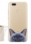 Чехол для Xiaomi Mi A1 Выглядывающий кот
